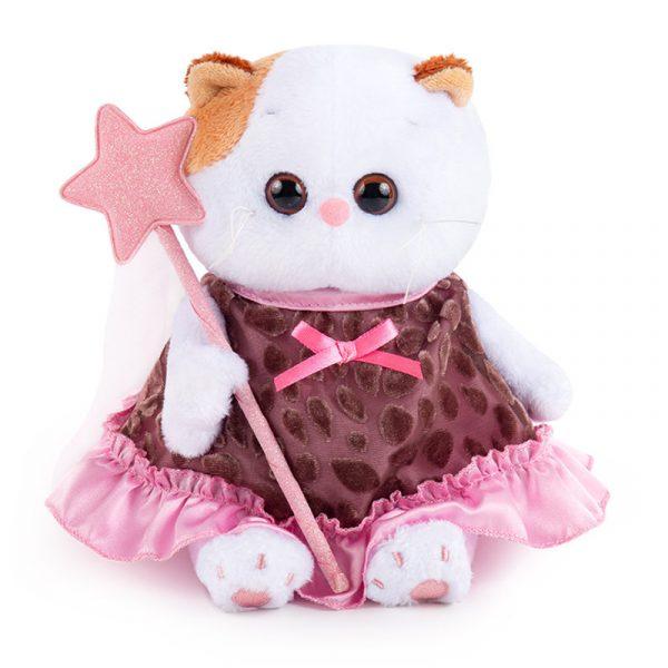Кошечка Ли Ли BABY в коричневом платье с отделкой