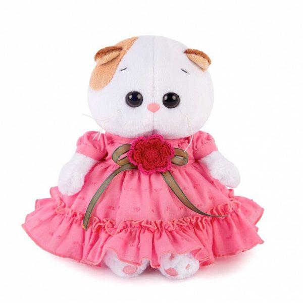 Кошечка Ли Ли BABY в платье с вязаным цветочком