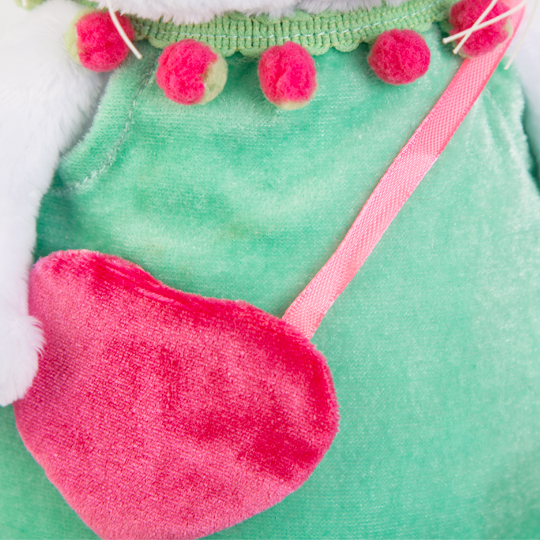 Одежда для кошечки Ли Ли — Мятное платье с розовой сумочкой