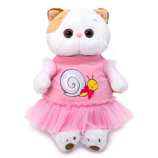 Кошечка Ли Ли в платье с принтом «Улитка»