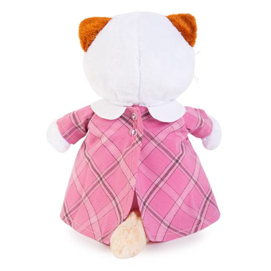 Кошечка Ли Ли в розовом платье с серой сумочкой