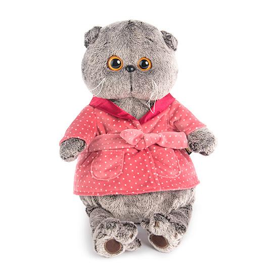 Одежда для кота Басика – Темно-розовый халат