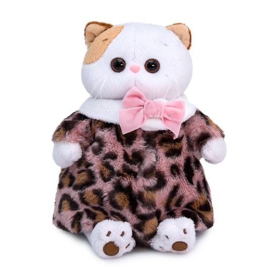 Одежда для кошечки  Ли Ли — Шубка из меха с леопардовым принтом