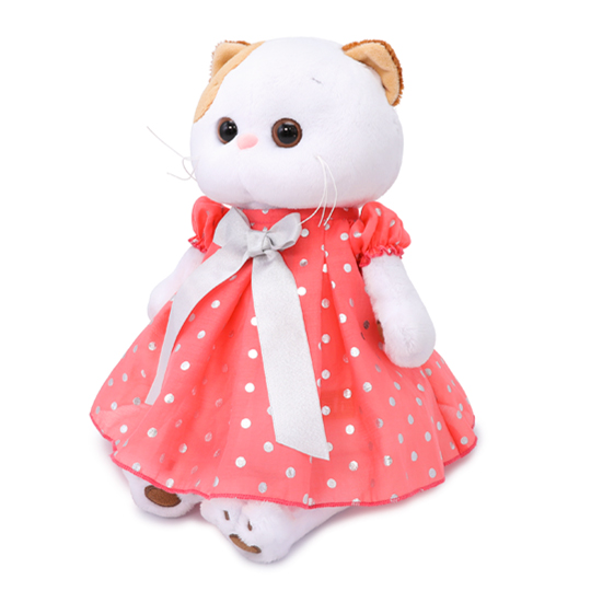 Кошечка Ли Ли в платье в горошек
