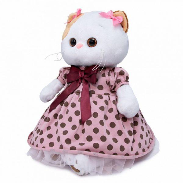 Кошечка Ли Ли в розовом платье в горох