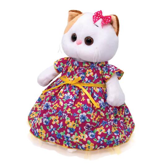 Кошечка Ли Ли в платье с цветочным принтом
