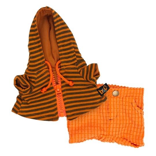 Одежда для Басика – Оранжевые штаны и толстовка с капюшоном