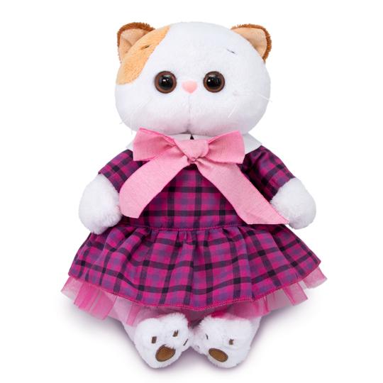 Кошечка Ли Ли в платье в клетку